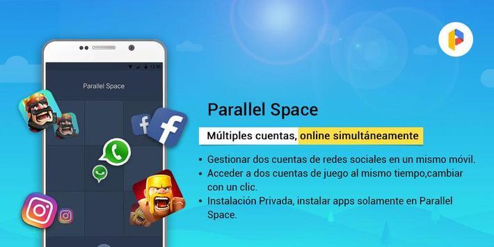 Parallel Space Lite-Dual App captura de pantalla 4