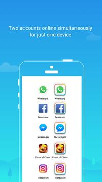 Parallel Space Lite-Dual App постер