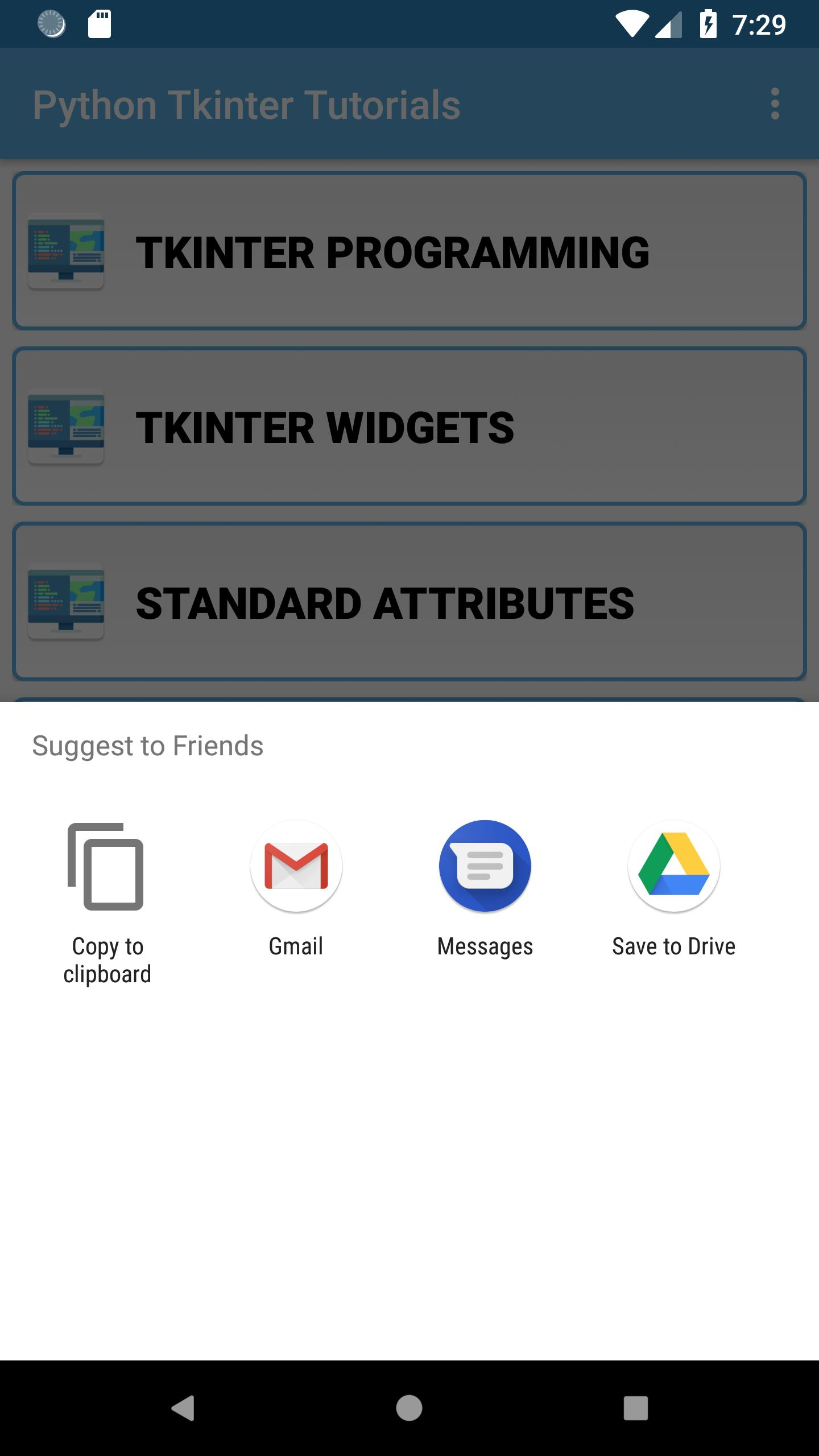Python Tkinter Tutorials for Android - APK Download