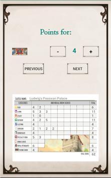 Between Two Castles Score Card screenshot 2