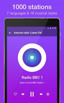 """Internet radio """"Listen FM"""" screenshot 8"""