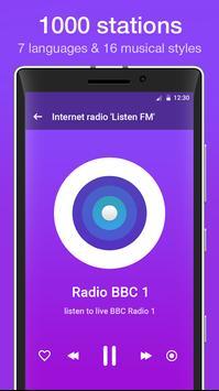 """Internet radio """"Listen FM"""" poster"""