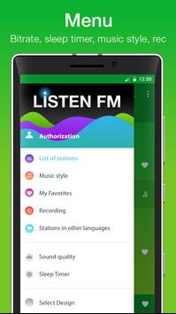 """Internet radio """"Listen FM"""" screenshot 3"""
