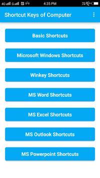 Shortcut Keys of Computer screenshot 2