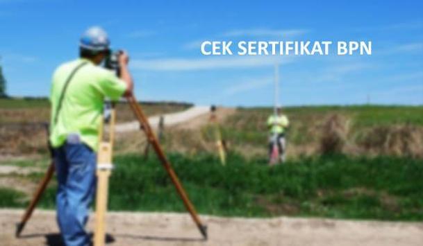 cek informasi sertifikat tanah dari bpn poster