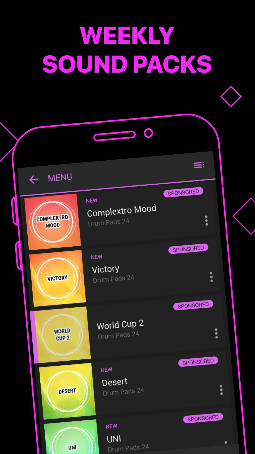 electro drum pads 24 for android apk download. Black Bedroom Furniture Sets. Home Design Ideas