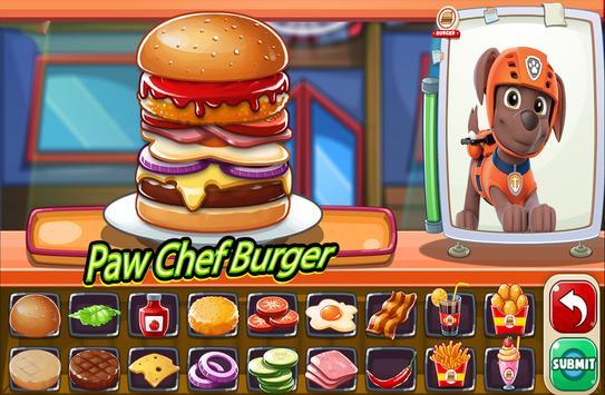 Paw Burger Chef Patrol screenshot 1