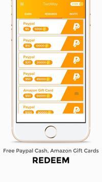 Free Gift Cards & Earn Cash - TwoWay screenshot 2