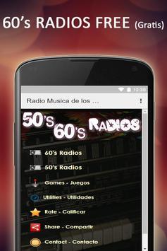 Free 60s & 50s Radios Music poster