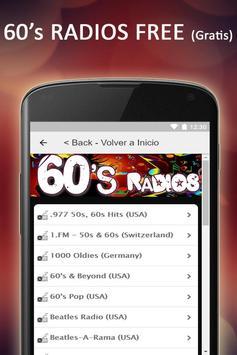 Free 60s & 50s Radios Music screenshot 1