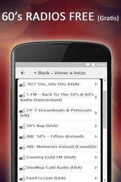Free 60s & 50s Radios Music screenshot 3