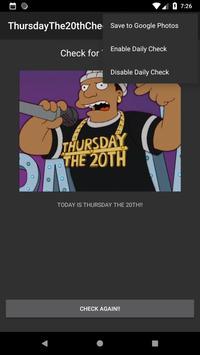 ThursdayThe20thChecker screenshot 1