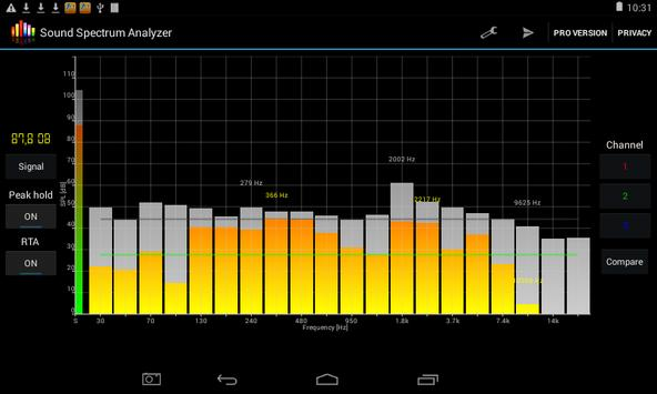 Penganalisis spektrum suara syot layar 6