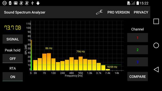 Sound Spectrum Analyzer screenshot 2