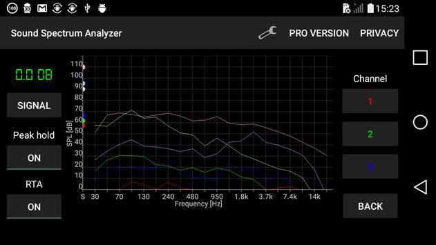 Analizador de espectro de sonido captura de pantalla 2