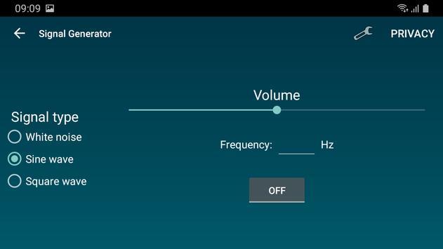 Penganalisis spektrum suara syot layar 3