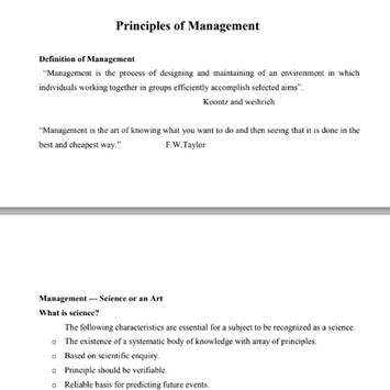 Principles of Management poster