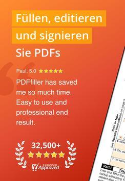 PDFfiller: Editieren und Unterschreiben Sie PDFs Plakat