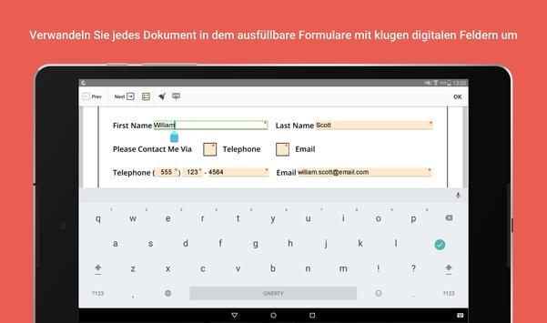 PDFfiller: Editieren und Unterschreiben Sie PDFs Screenshot 8