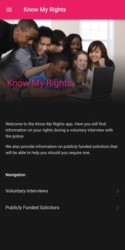 Know My Rights poster