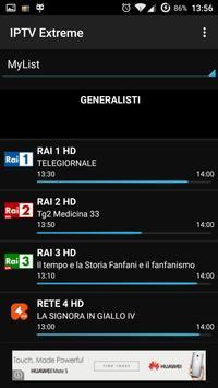 1 Schermata IPTV Extreme