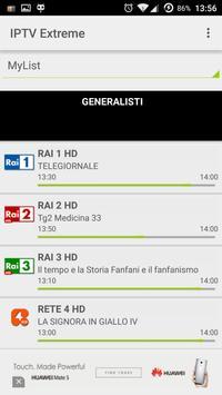 2 Schermata IPTV Extreme
