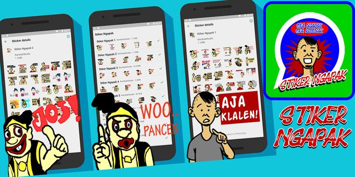 Stiker Ngapak WAStickerApps poster