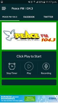 Peace FM 104.3 ポスター