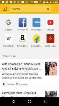 Indian Browser screenshot 1