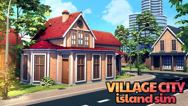 A Vila: simulador de ilha Village City Simulation Cartaz