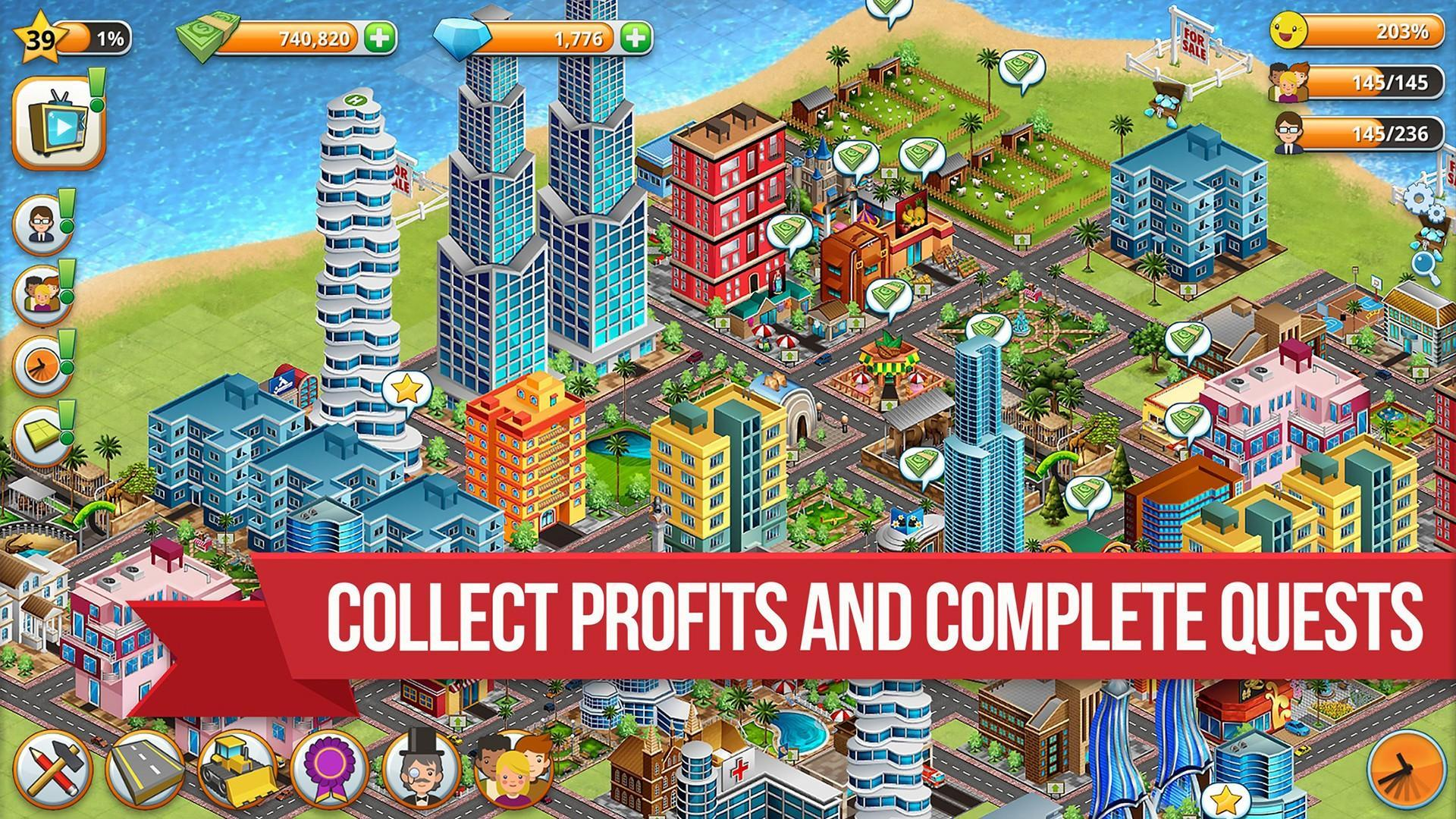 Permainan android Village City - Island Simulation v1.9.3