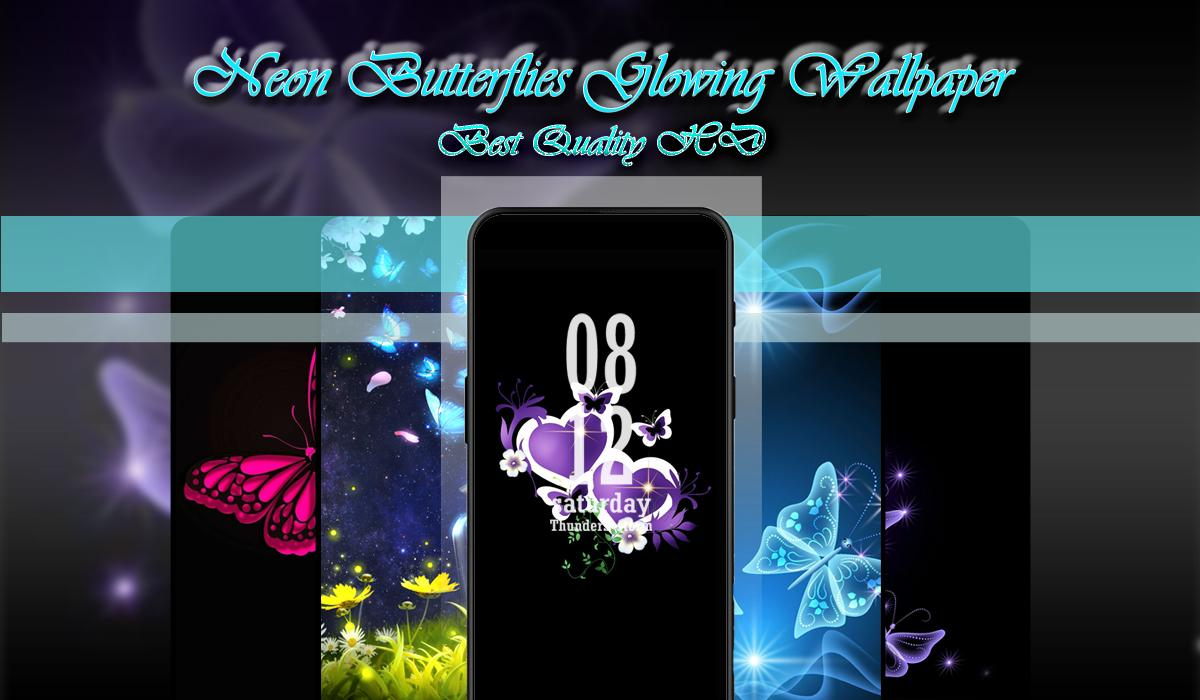 Neon Butterflies Glowing Wallpaper Hd For Android Apk Download
