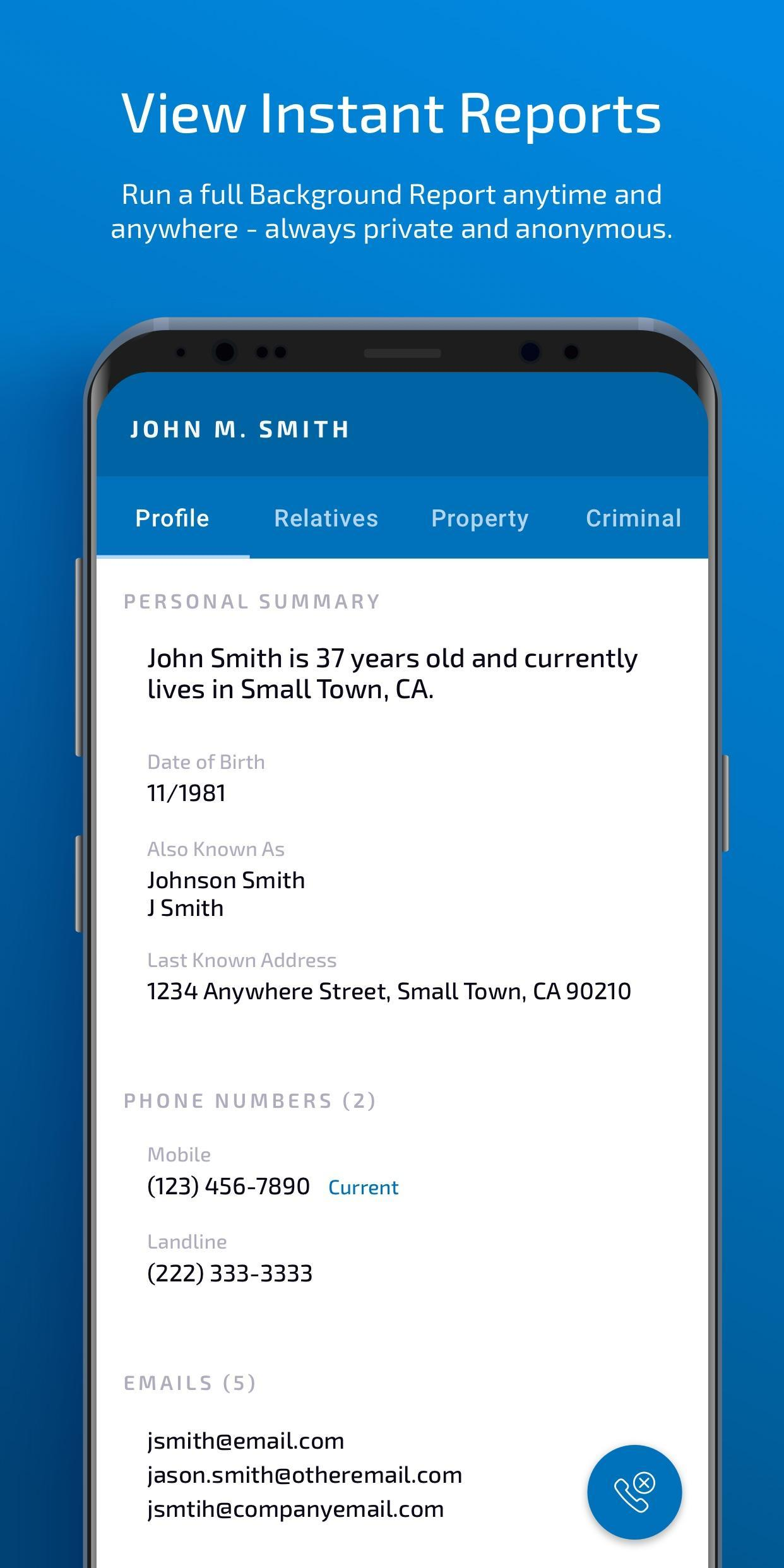Background Check & People Search | PeopleFinders for Android - APK