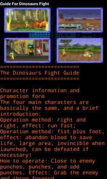 Guide For Dinosaurs Fight poster