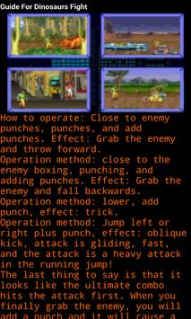 Guide For Dinosaurs Fight screenshot 2