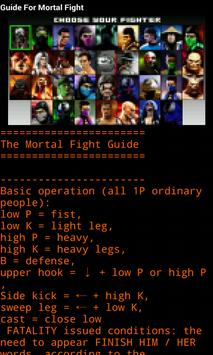 Guide For Mortal Fight poster