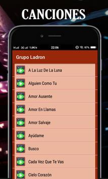 Top Musica Grupo Ladrón Mix screenshot 1