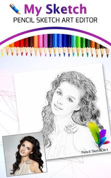 Pencil Sketch Art : Tap Sketch poster