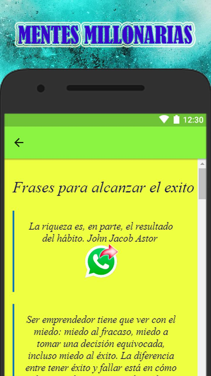 Frases De Mentes Millonarias For Android Apk Download