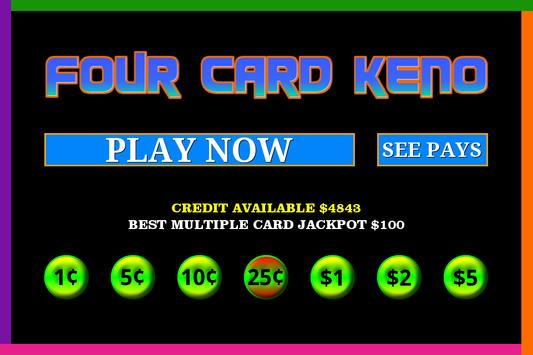 Four Card Keno screenshot 2