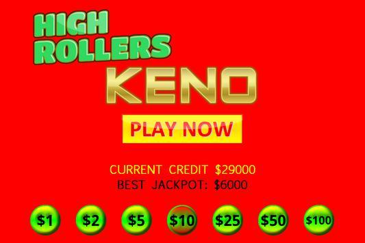High Rollers KENO screenshot 2