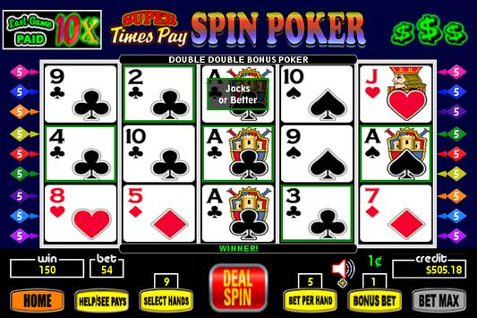 Super Times Pay Spin Poker poster