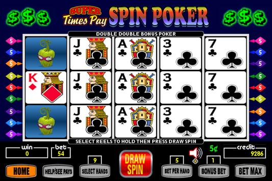Super Times Pay Spin Poker screenshot 6