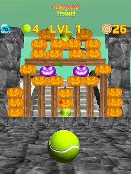 Pumpkins vs Tennis - Halloween smash & knockdown screenshot 13