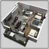 تخطيط المنزل ثلاثي الأبعاد أيقونة
