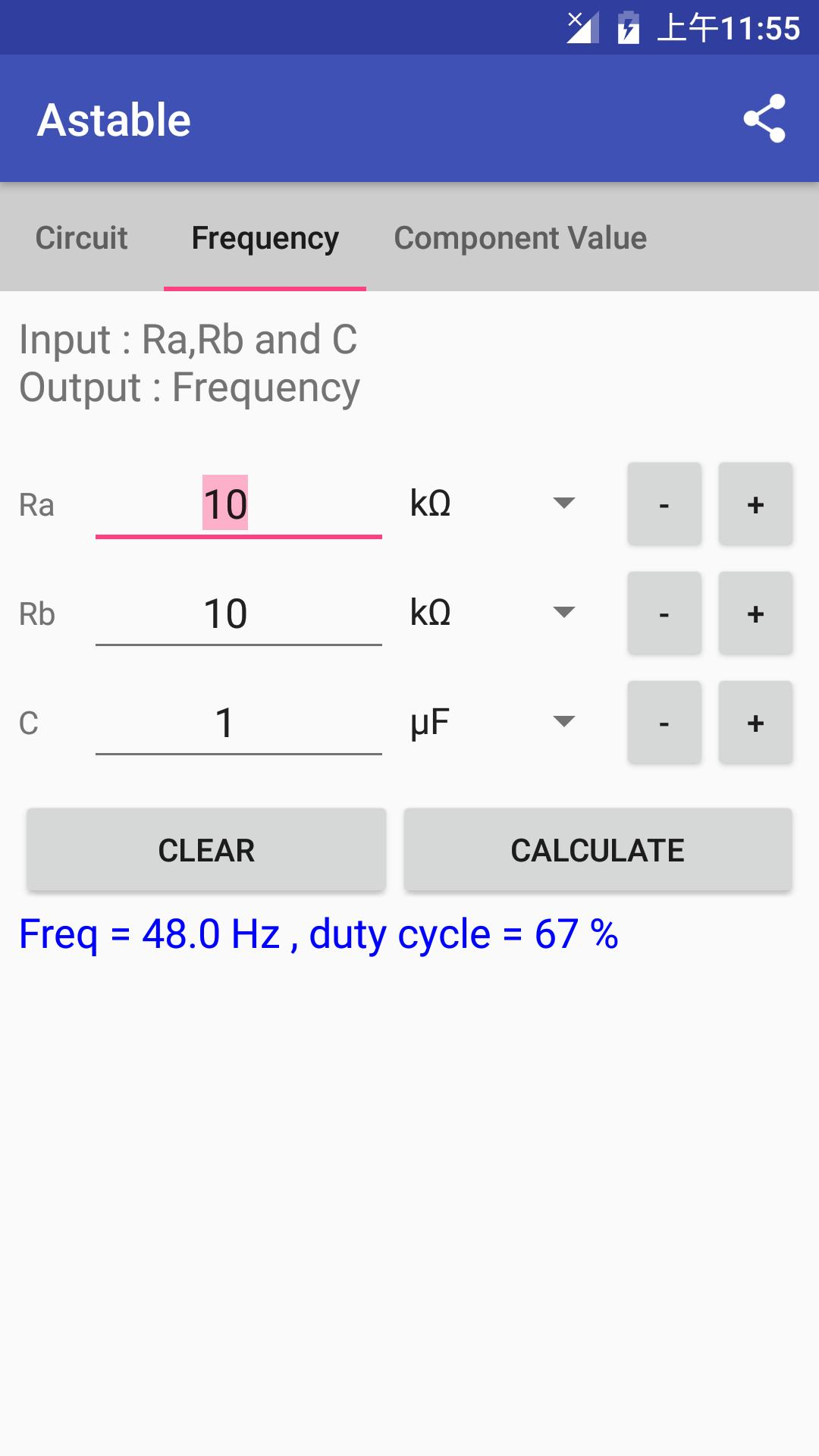 Timer IC 555 Calculator for Android - APK Download
