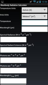 Blackbody Radiation Calculator poster
