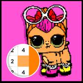 PETS Surprise Number Coloring Books - Pixel Art icon