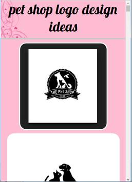 pet shop logo design ideas poster