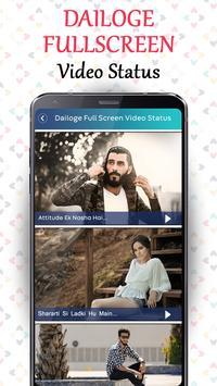 Dialogue Full Screen Video Status - Lyrical Status poster